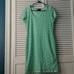 Mint Ronni Nicole Lace Dress